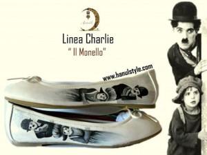 Sc10 Ballerine dipinte a mano, Charly Chaplin - il monello