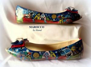Sc12 Ballerine dipinte a mano - Marocco Hanùl