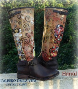 Sc14 stivalii dipinti a mano, L'aalbero della vita - Klimt