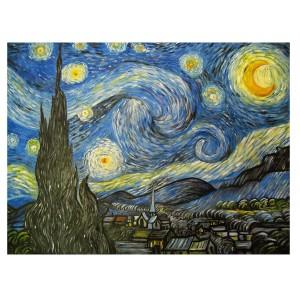 tela notte stellata van gogh 2
